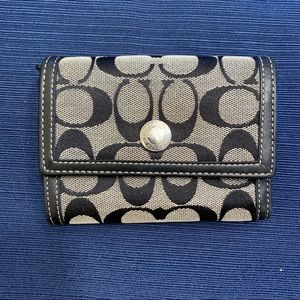 Coach Wallet Black and Gray